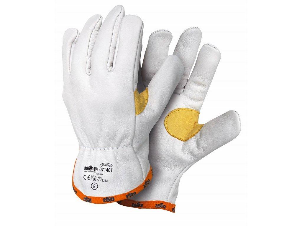 07140T SALERNO TOP lícové celokožené rukavice bílé (Velikost/varianta 11)