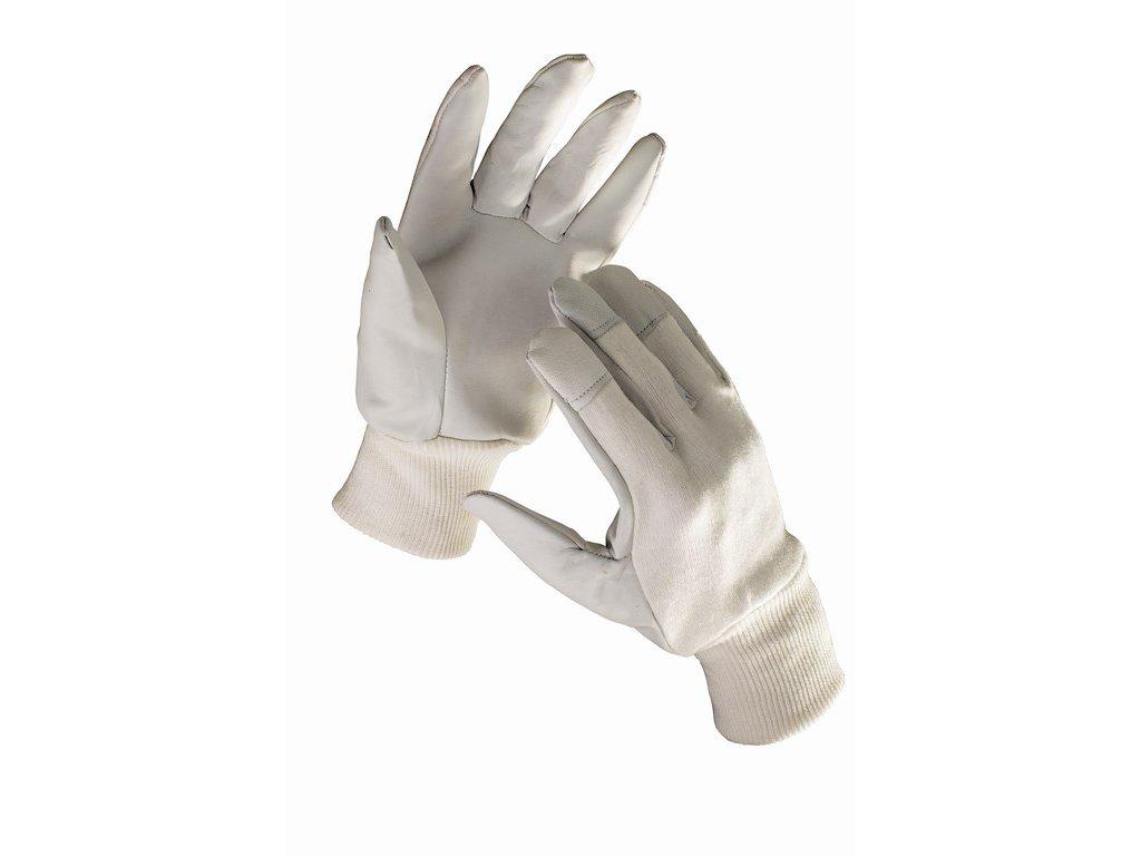 HOBBY rukavice kombinované bílo-šedé (Velikost/varianta 10)