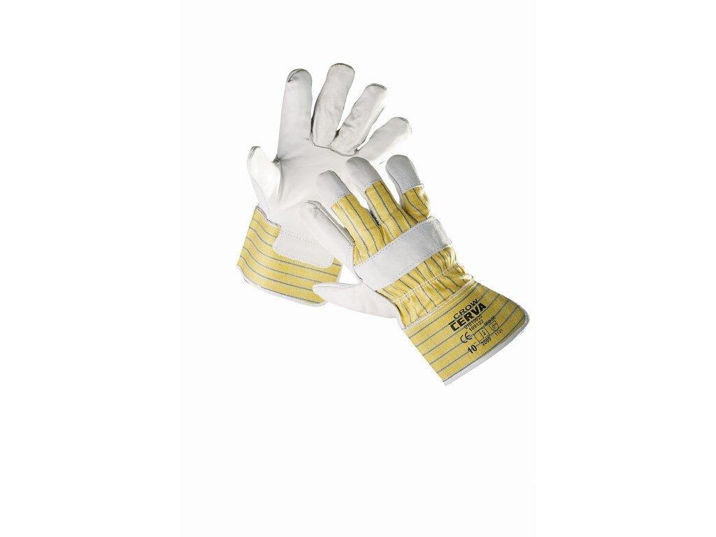 CROW rukavice z líco. hověziny s podšívkou (Velikost/varianta 11)