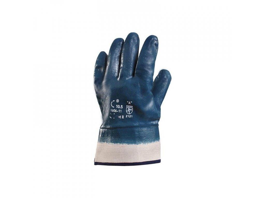 PELA rukavice s tuhou manžetou máčené v nitrilu (Velikost/varianta 10)