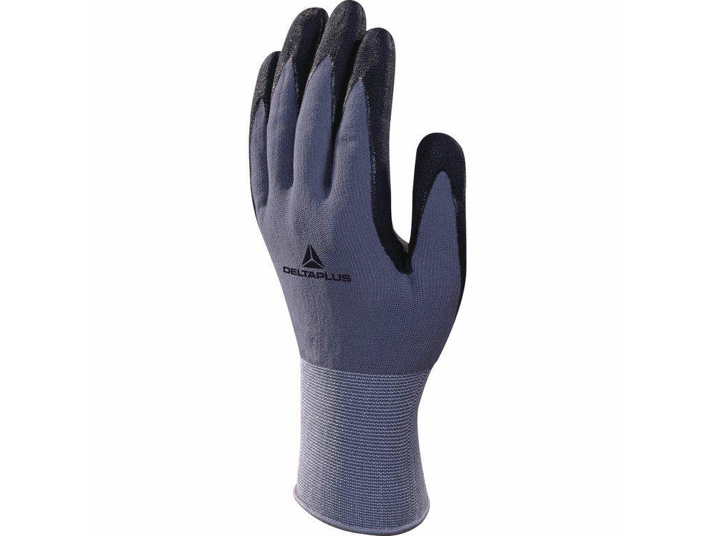 VE726 rukavice povrstvené nitrilem šedá/černá (Velikost/varianta 10)