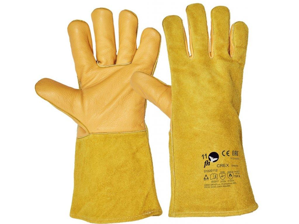 CREX FH rukavice svářečské žlutá (Velikost/varianta 11)