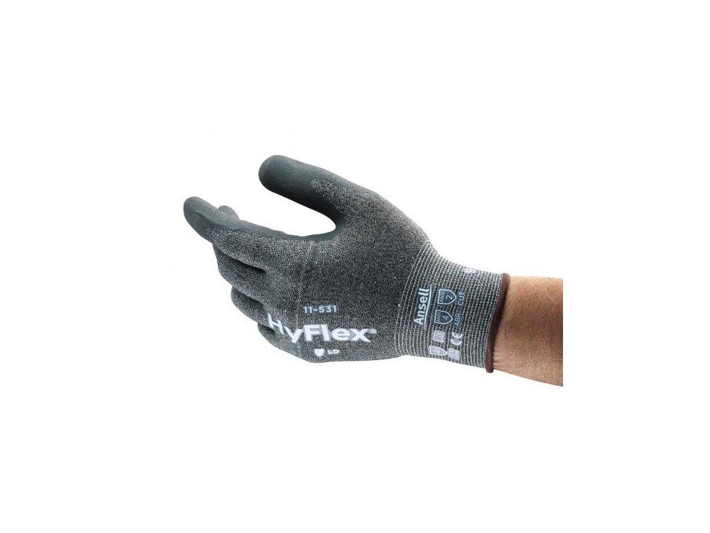 HYFLEX 11-531 rukavice protiřezné povrstvené nitrilem (Velikost/varianta 11)