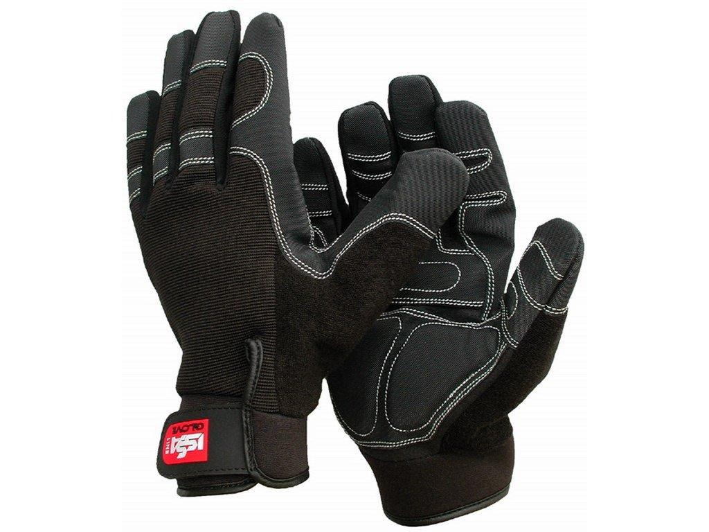 SHOCK rukavice antivibrační kožené černé (Velikost/varianta 11)
