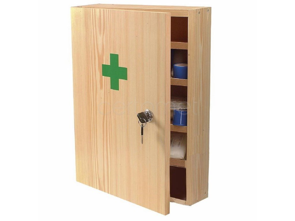 Lékárnička dřevěná 43x30x14cm (Velikost/varianta UNI)
