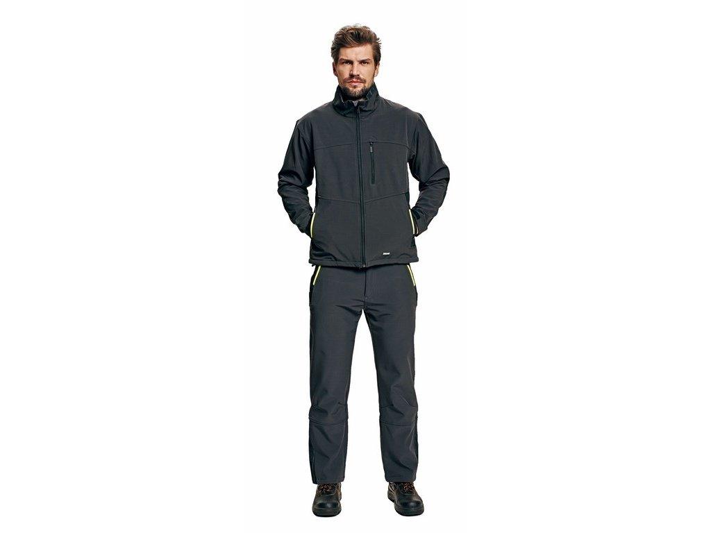 OLZA softshellová bunda šedá (Velikost/varianta 3XL)