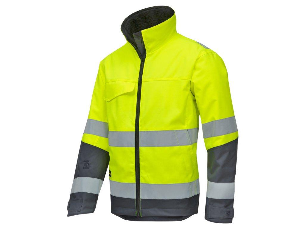 Rip-stop reflexní bunda zimní žlutá (Velikost/varianta 3XL)
