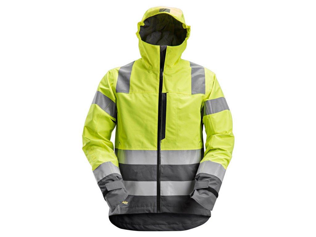 AllroundWork nepromokavá reflexní bunda žlutá (Velikost/varianta 3XL)