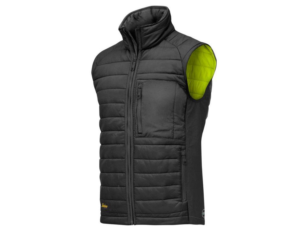 AllroundWork 37.5® prošívaná vesta černá (Velikost/varianta 3XL)