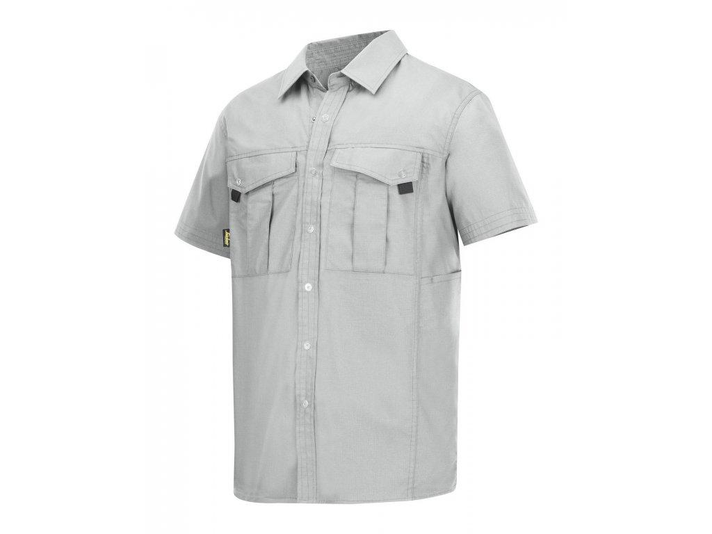 Rip-Stop košile s krátkým rukávem bílá (Velikost/varianta 3XL)
