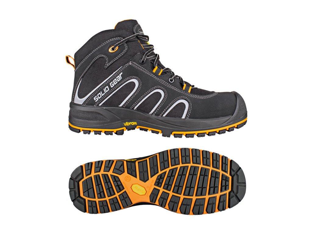FALCON S3 kotníková pracovní obuv černá (Velikost/varianta 48)