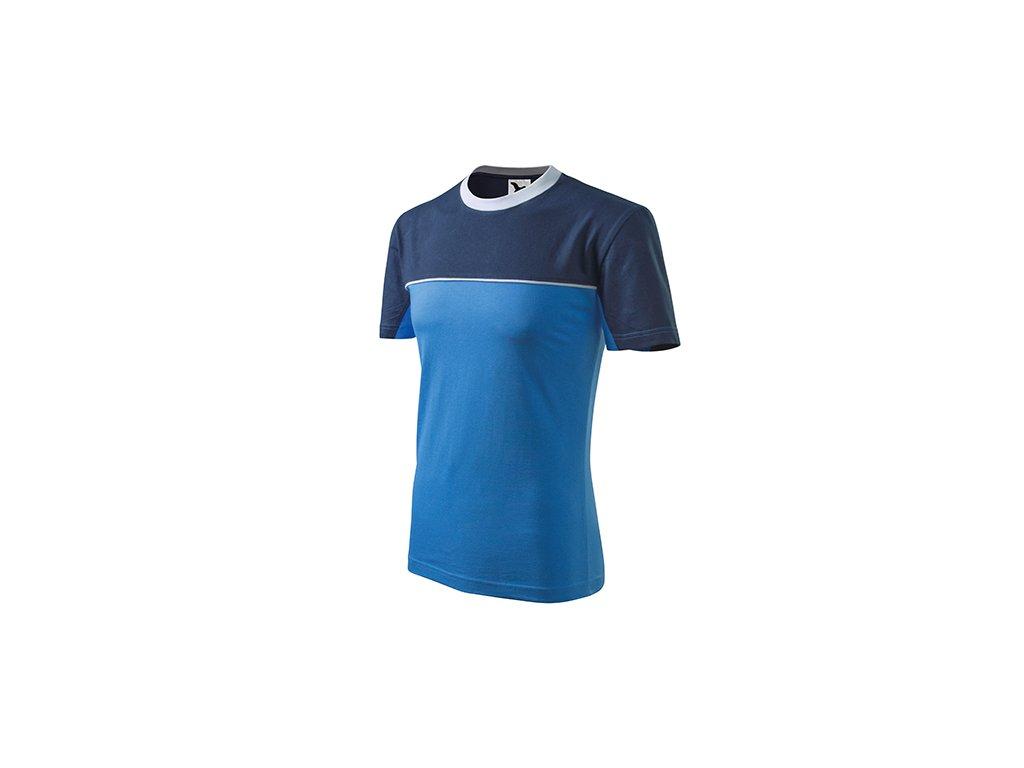 Colormix tričko unisex azurově modrá