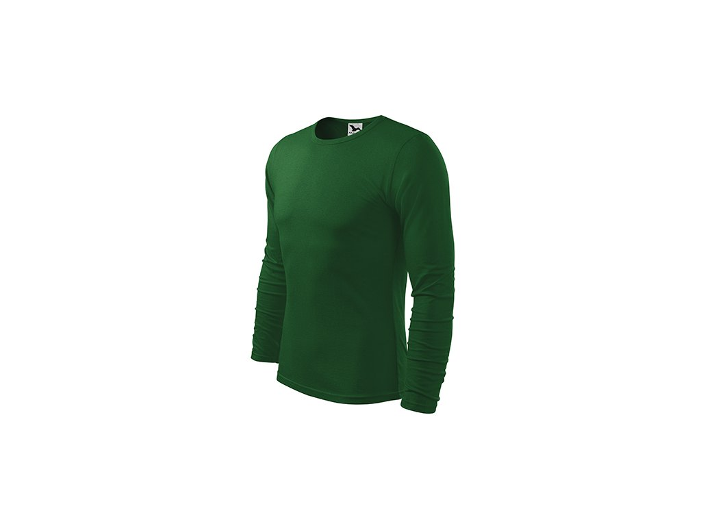 Fit-T LS triko pánské lahvově zelená
