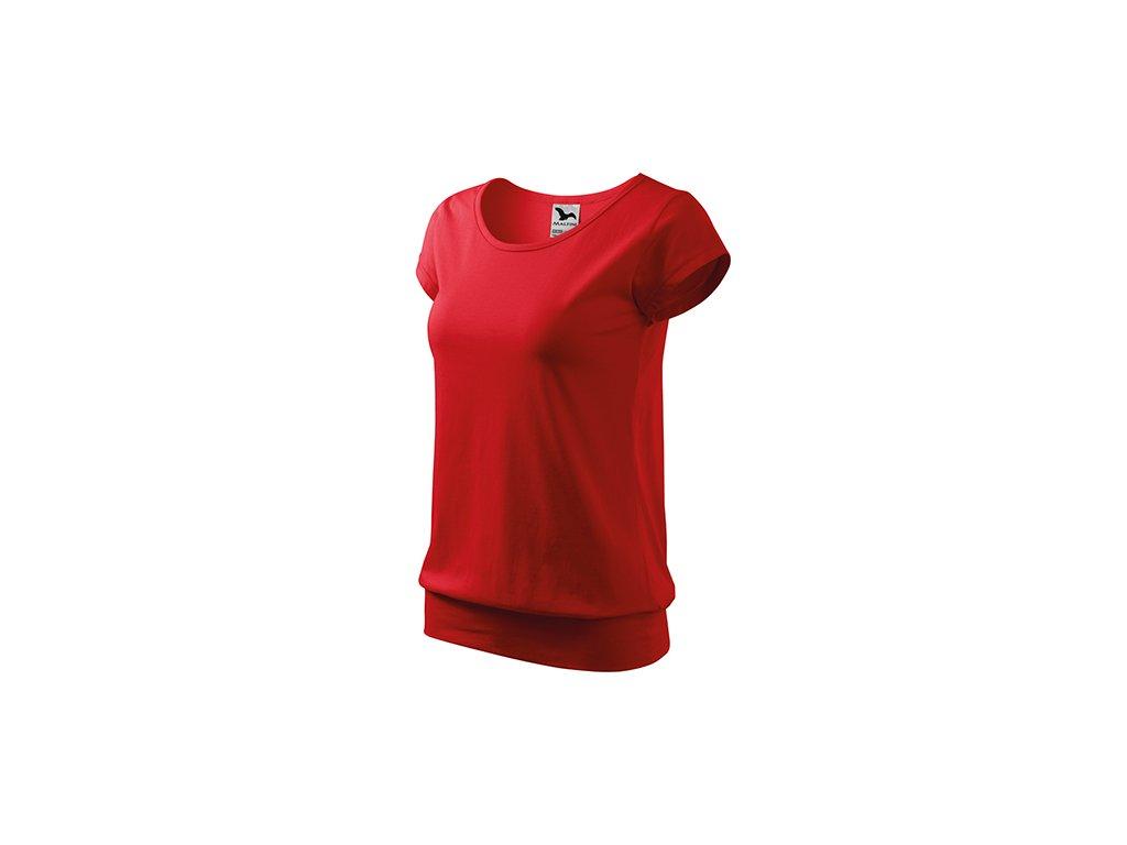 City tričko dámské červená
