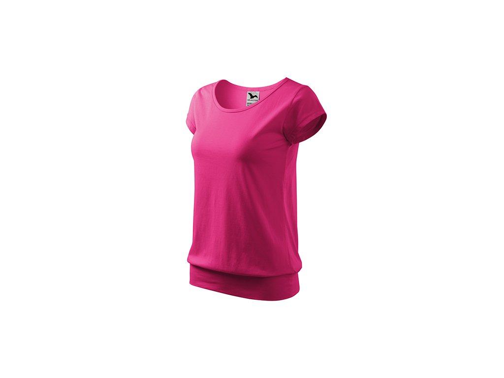 City tričko dámské purpurová