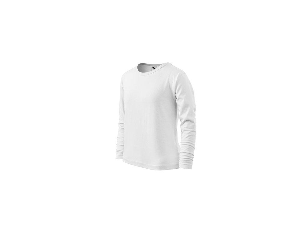 Fit-T LS triko dětské bílá