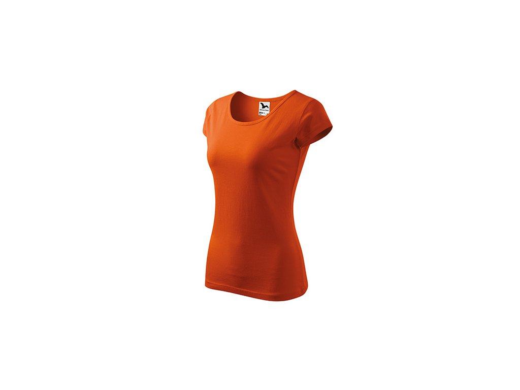 Pure tričko dámské oranžová