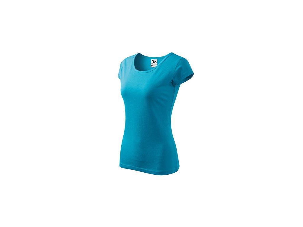 Pure tričko dámské tyrkysová