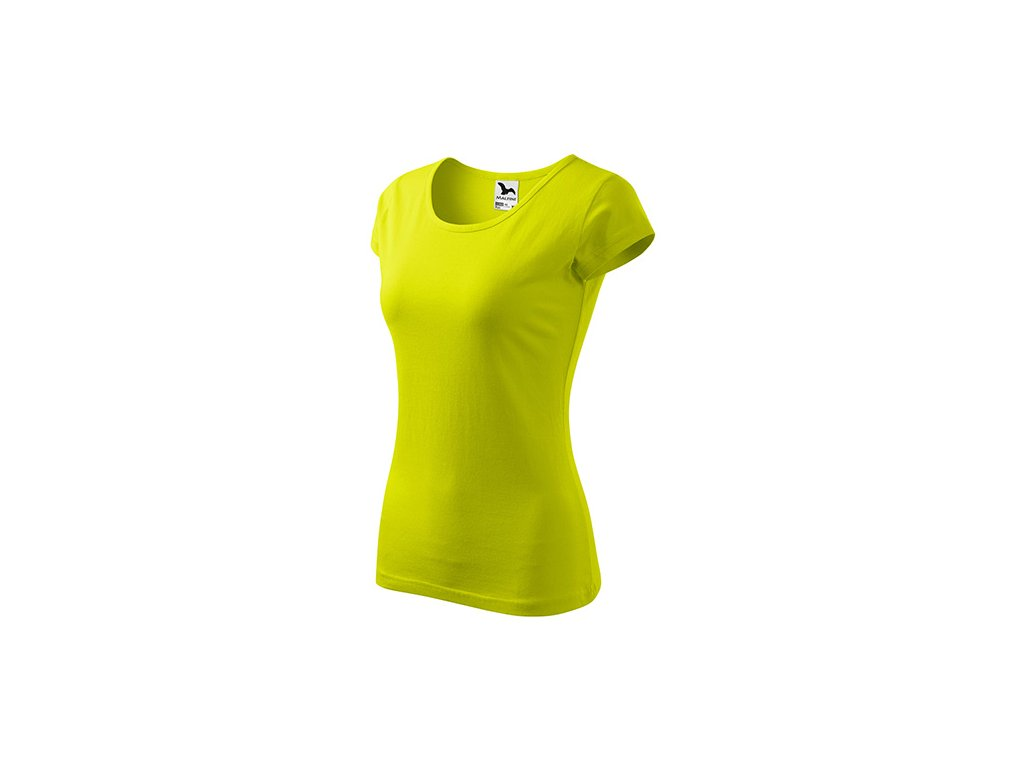 Pure tričko dámské limetková