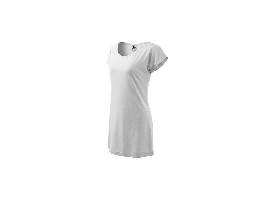 Love tričko/šaty dámské bílá