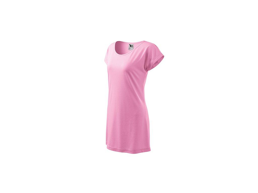 Love tričko/šaty dámské růžová