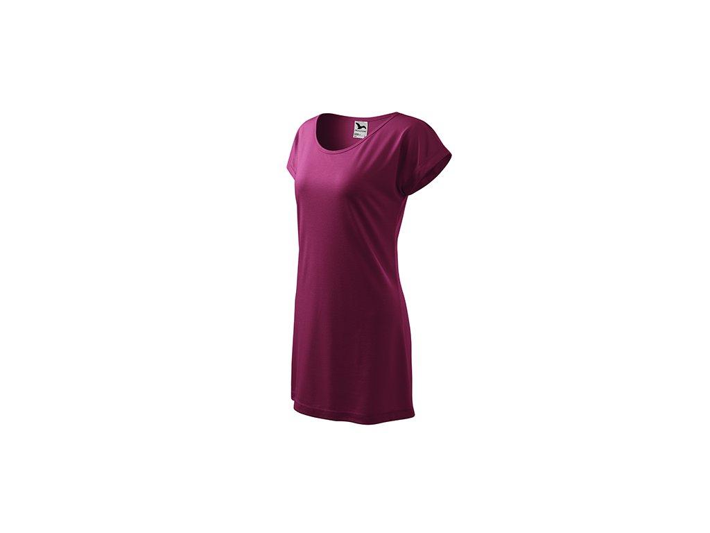 Love tričko/šaty dámské fuchsiová