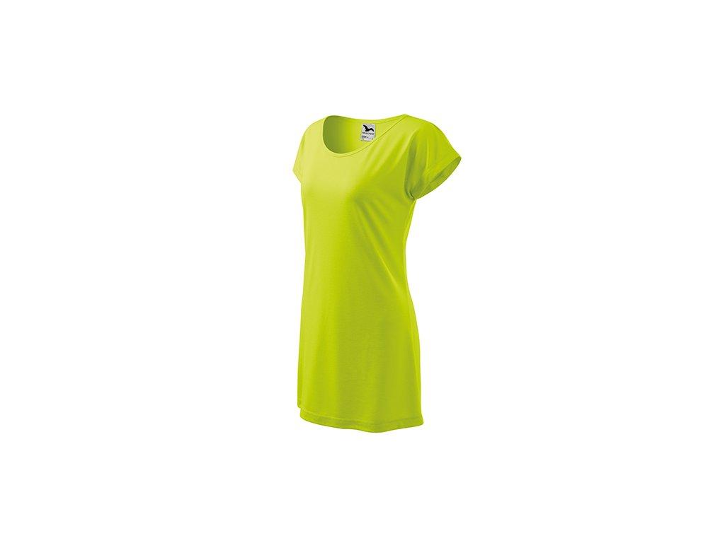 Love tričko/šaty dámské limetková