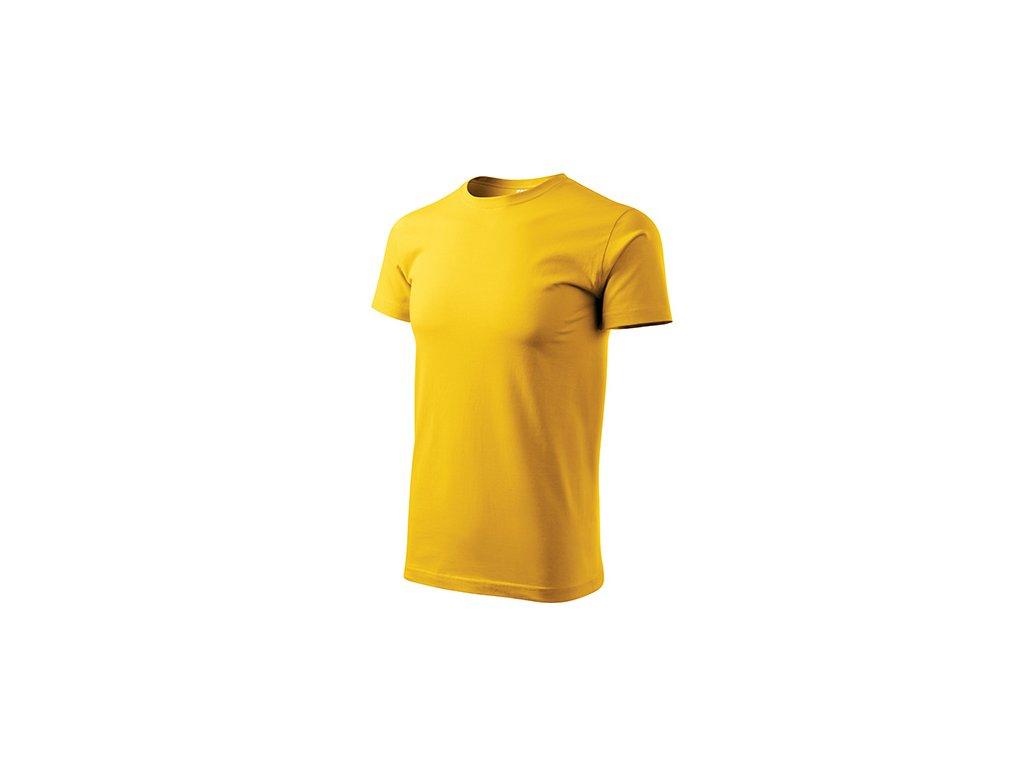 Basic tričko pánské žlutá