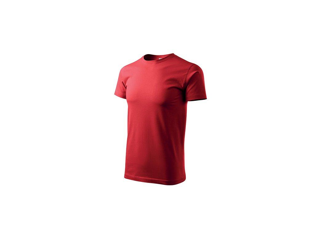 Basic tričko pánské červená