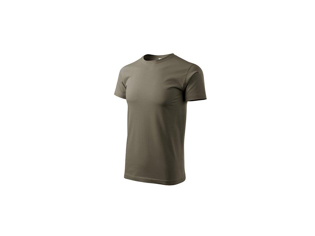 Basic tričko pánské army