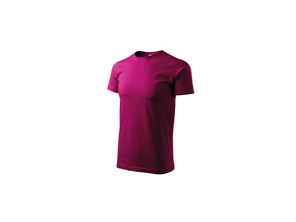 Basic tričko pánské fuchsia red