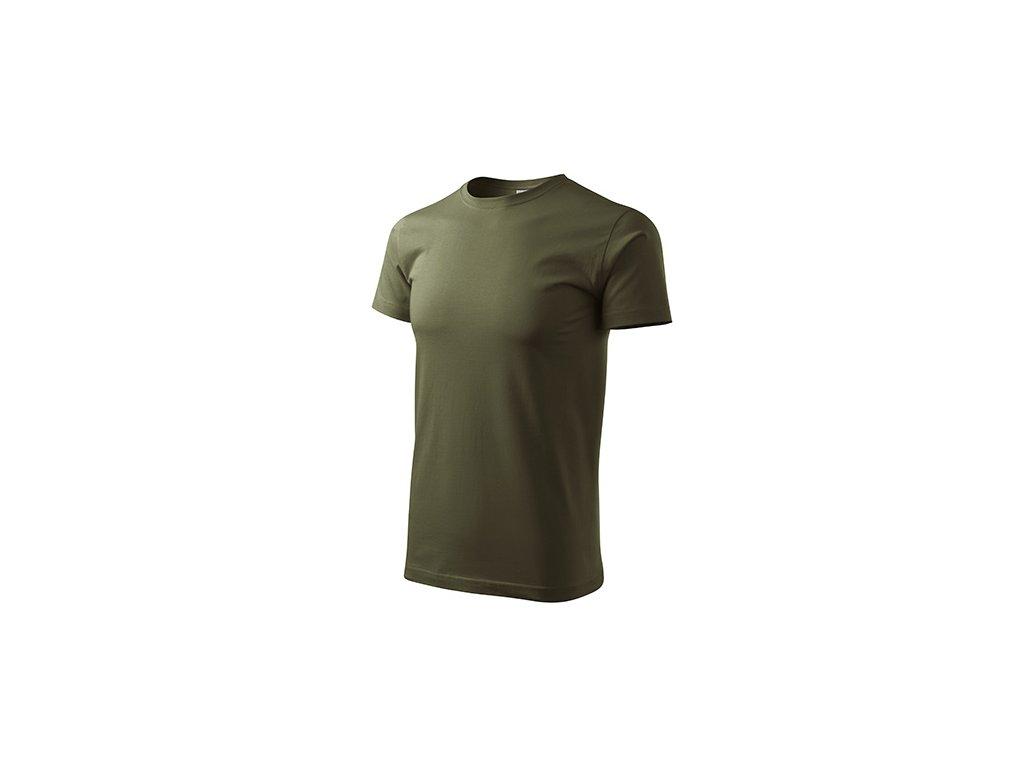 Basic tričko pánské military