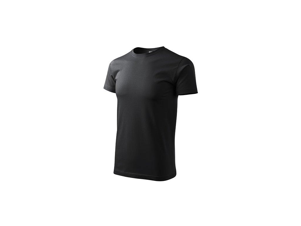 Basic tričko pánské ebony gray