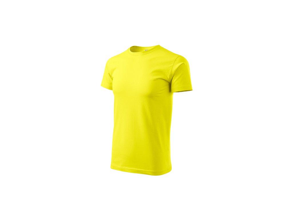 Basic tričko pánské citronová