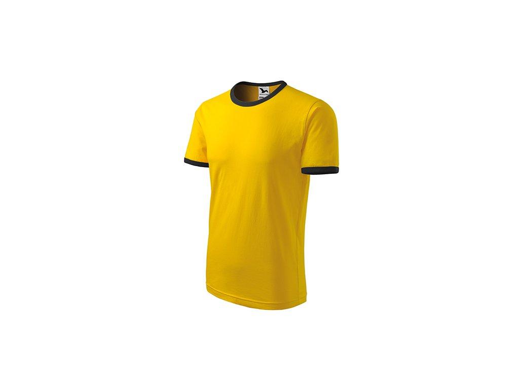 Infinity tričko unisex žlutá