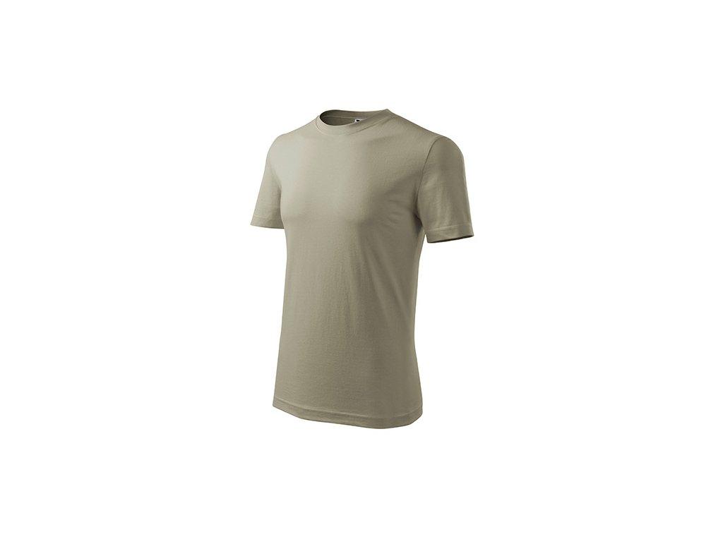 Classic New tričko pánské světlá khaki