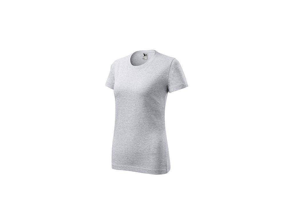 Classic New tričko dámské světle šedý melír