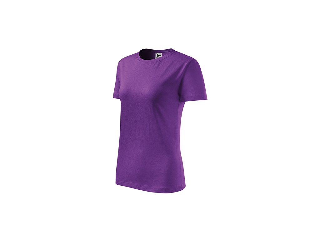 Classic New tričko dámské fialová
