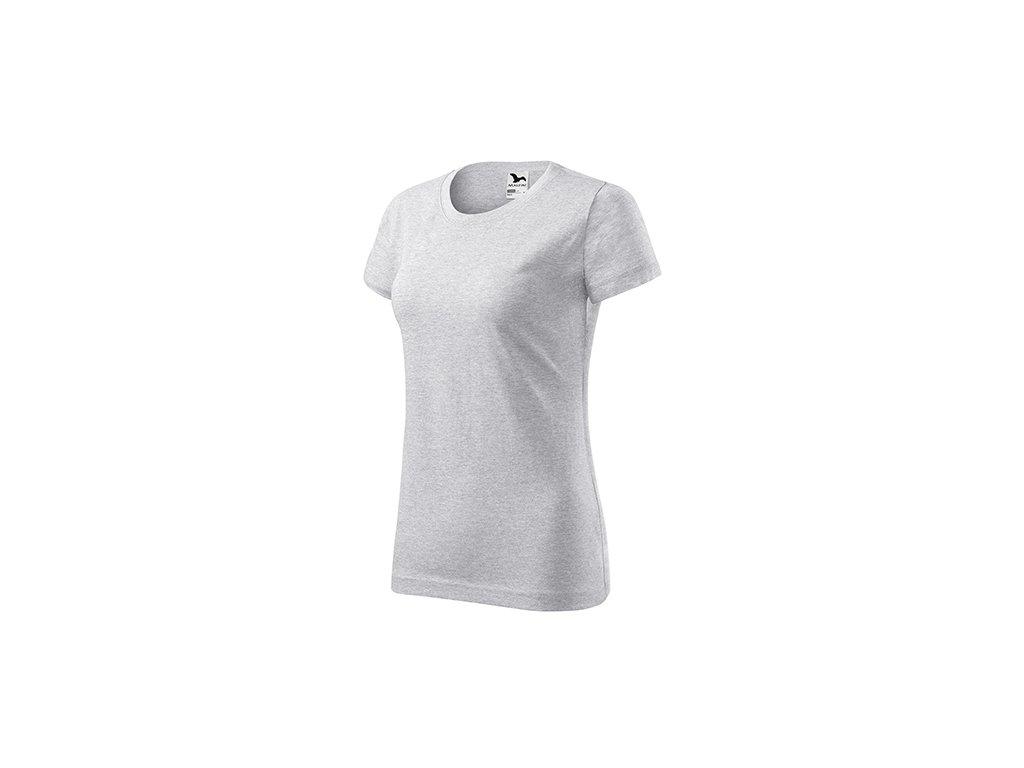 Basic tričko dámské světle šedý melír