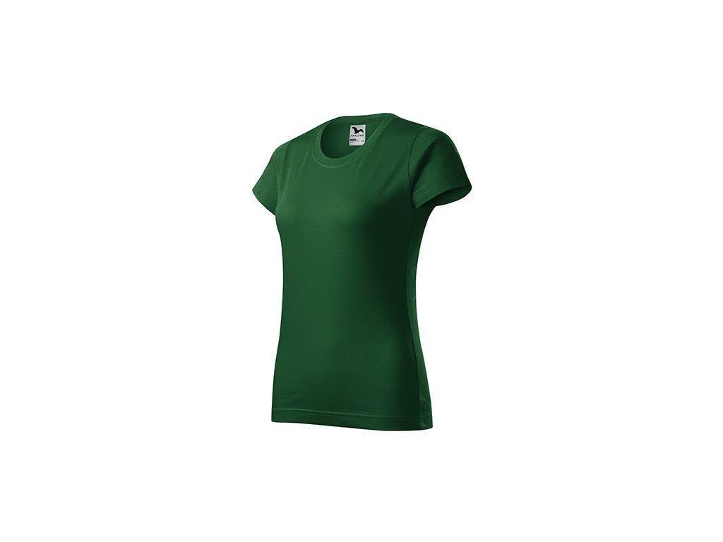 Basic tričko dámské lahvově zelená