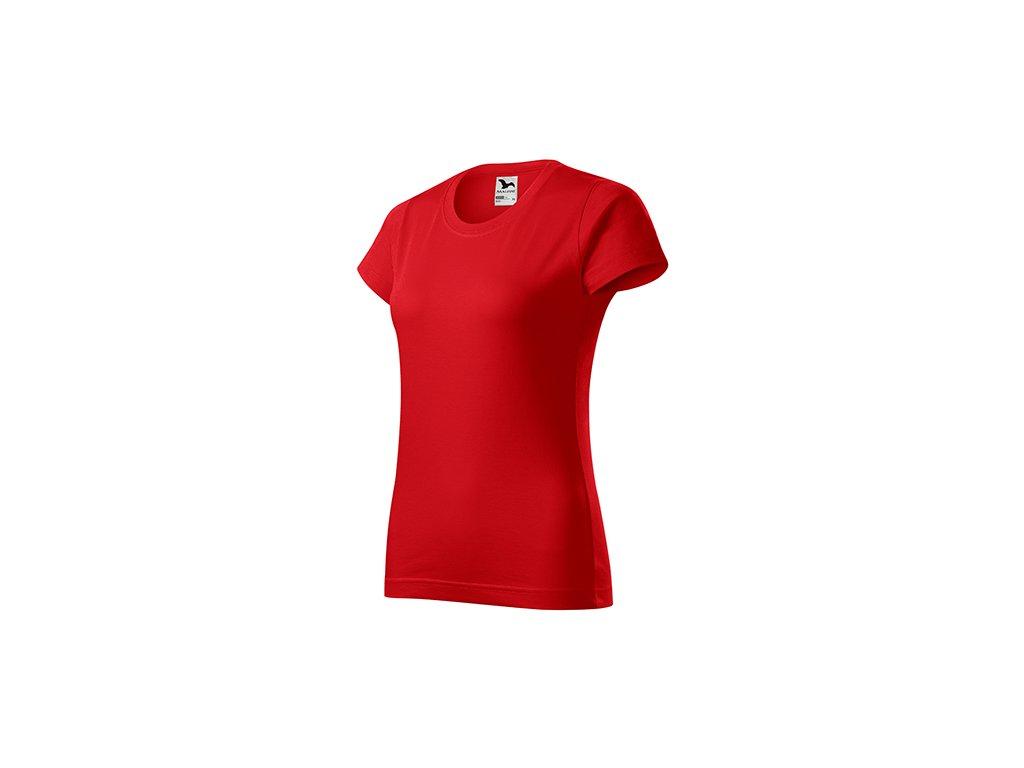 Basic tričko dámské červená