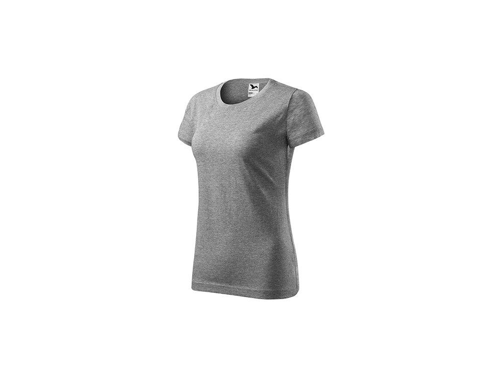 Basic tričko dámské tmavě šedý melír