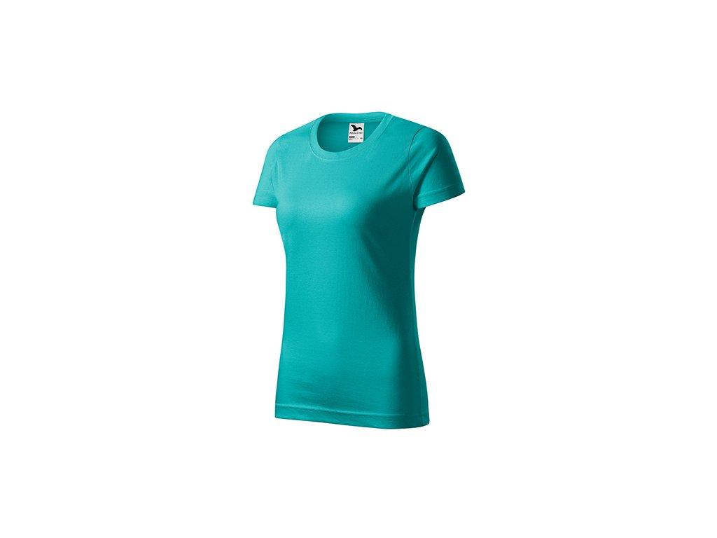 Basic tričko dámské emerald