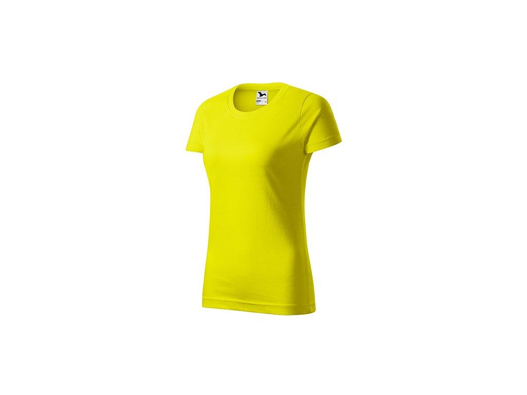 Basic tričko dámské citronová
