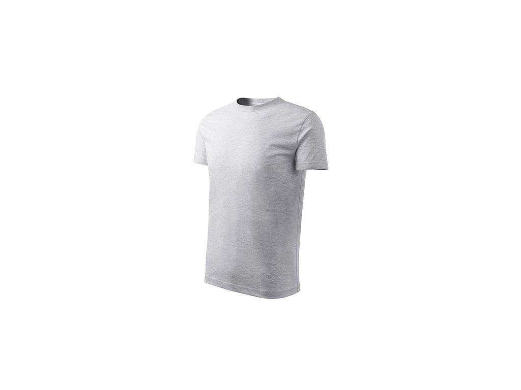 Classic New tričko dětské světle šedý melír