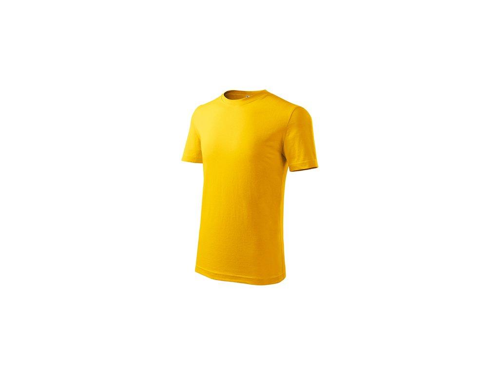 Classic New tričko dětské žlutá