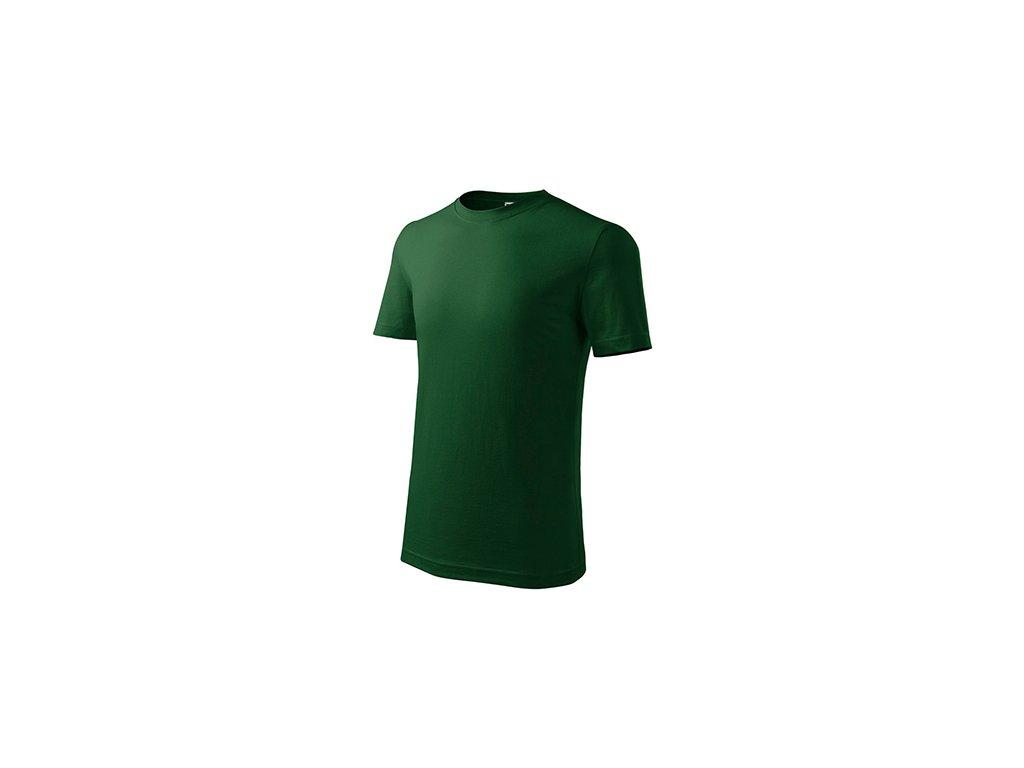 Classic New tričko dětské lahvově zelená