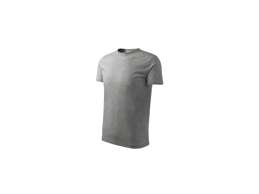 Classic New tričko dětské tmavě šedý melír