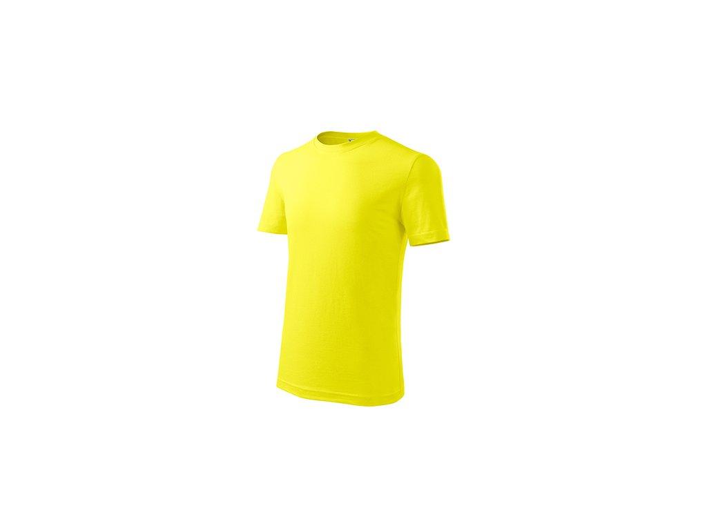Classic New tričko dětské citronová