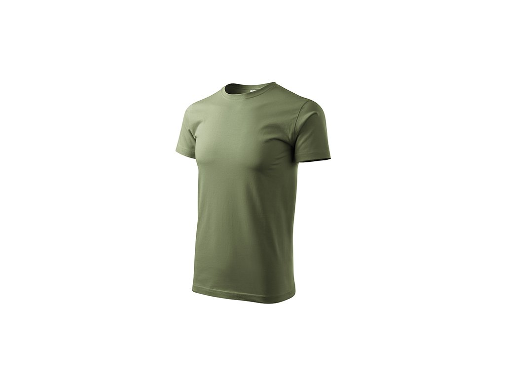 Heavy New tričko unisex khaki
